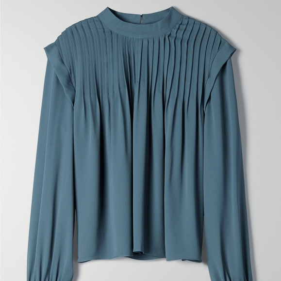 Babaton pleated blouse